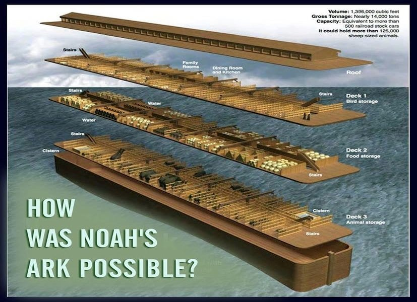 Noahs Ark 500 Railroad cars diagram specs BioLogos Exposed