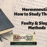 Understanding Error & Hermeneutics Session 06