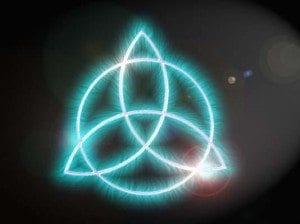 Symbol of the Triquetra Wicca