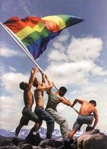 Gay Pride, Iwo Jima battle