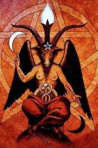 Baphomet The Occult Law of Reversal god of confusion Woe unto them