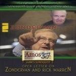 James Sundquist Open Letter on Zondervan and Rick Warren